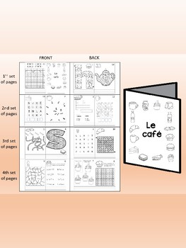 Le café -  FRENCH Games & Mini activity book Combo