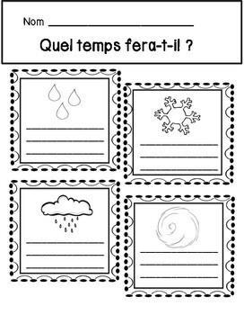 La Météo/Le Temps le cahier d'activités