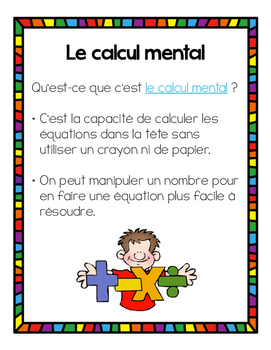 Le calcul mental - Stratégies de maths / Mental Math Strategies