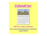 Le calendrier (French Calendar Vocabulary/Game)