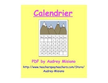 Le calendrier (French Calendar Vocabulary/Game)