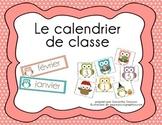 Le calendrier de classe - hibou