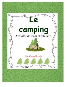 Le camping: activités de littérature et math.
