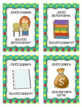 Le centième jour d'école - J'ai Qui A (Jeu) - French 100th Day of School