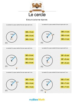 Le cercle 6 -A quelle distance se trouve le point du centre du cercle ?
