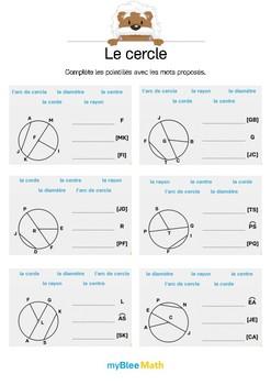 Le cercle 7 -Compléter le texte à trous avec le vocabulaire du cercle