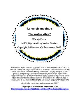 """Le cercle magique """"le verbe être"""""""