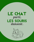 Le chat parti, les souris dansent - French proverb poster