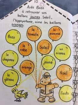 """Le château de Bozo et de Soleil- FRENCH- Phonic Workbook: le son """"o"""" - Grade 1"""