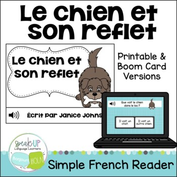 Le chien et son reflet ~ French The Dog & his Reflection Fable Reader
