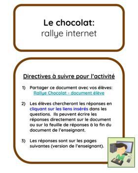Le chocolat:  rallye internet