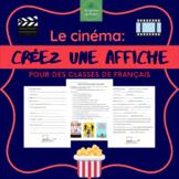 Le cinéma - Créez une affiche