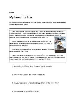 Le cinema / Les films / Movies