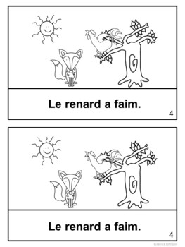 Le coq et le renard ~ French Rooster & the Fox Fable Reader ~ Simplified