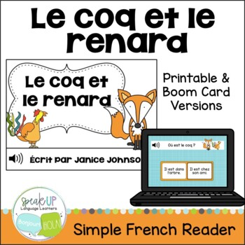 Le coq et le renard ~ French Rooster & the Fox Fable Reade