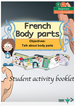 French body parts, le corps booklet for beginners