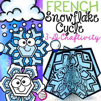 Le cycle d'un flocon de neige - FRENCH Snowflake Cycle Craft