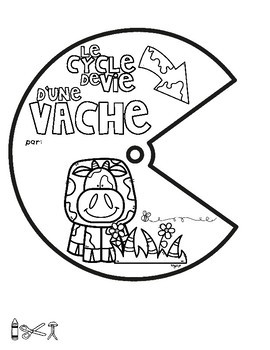 Le cycle de vie d'une vache - FRENCH Life Cycle Spinner & Labeling