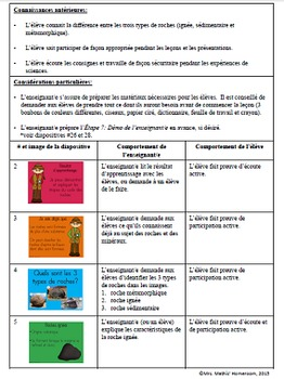 Le cycle des roches - présentation PP, guide pédagogique et feuille de travail
