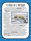 Le dégel de l'Arctique - Compréhension de lecture