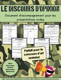 Le discours français - French Persuasive Essay Guide **Per