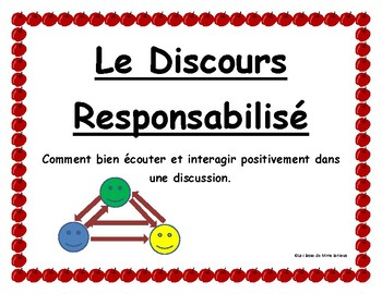 Le discours responsabilisé/ Accountable Talk sentence starters