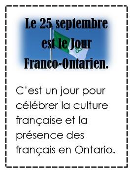 Le drapeau Franco-Ontarien grade 4 french culture curriculum