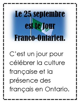 Le Jour Franco-Ontarien grade 4 french culture curriculum