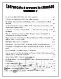 Le français à travers la chanson - volume 2