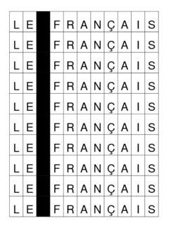 Le français letters