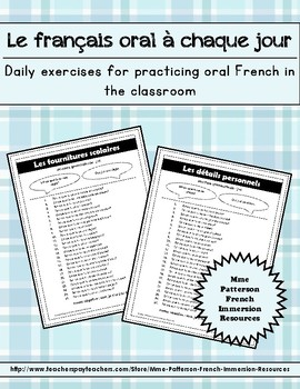 Le français oral à chaque jour - Daily Oral French Exercises