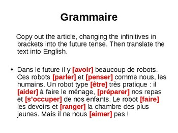 Le futur / The future tense