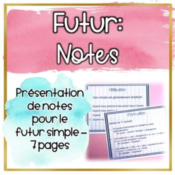 Futur simple - Les Notes