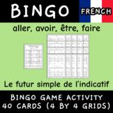 Le futur simple aller avoir être faire conjugation French bingo 40 cards game