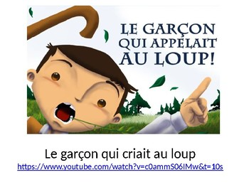 Le garçon qui appelait au loup French Screenshot BookTalk Presentation