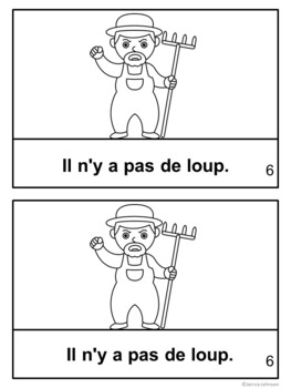 Le garçon qui crie au loup ~ French Boy Who Cried Wolf Fable Reader ~Simplified