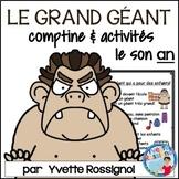 """Centres de littératie - Mots fréquents - Le son """"an"""" -  French Phonics"""