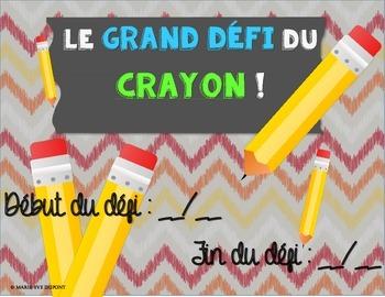 Le grand défi du crayon