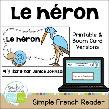 Le héron ~ French The Heron Fable Reader ~Simplified for L