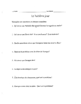 Le huitieme jour French film questions The 8th day Discove