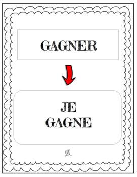 Le jeu des 7 familles- Regular ER verbs present tense card games