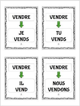 Le jeu des 7 familles- Regular RE verbs present tense card games