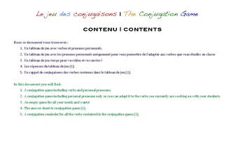 Le jeu des conjugaisons / The conjugation game
