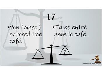Le jeu injuste - le passé composé : The Unfair Game - French passé composé