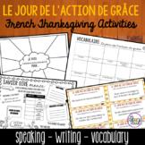 l'action de grâce French Thanksgiving Activities