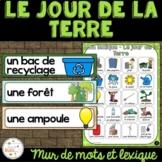 Jour de la Terre - Vocabulaire et lexique - French Earth Day