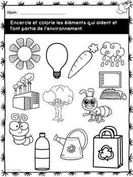 Jour de la Terre - cahier d'activités de l'élève - French Earth Day