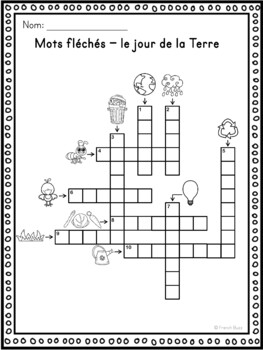 Jour de la Terre - mots croisés, cachés, fléchés/French Earth Day