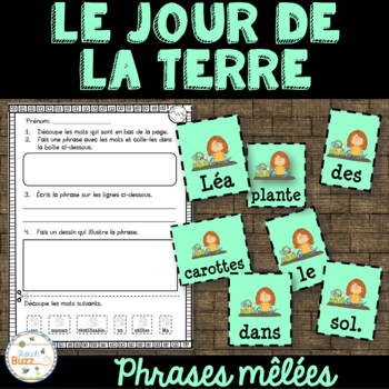 Jour de la Terre - phrases mêlées - French Earth Day