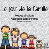 Le jour de la famille - Résous et colorie (Addition à deux